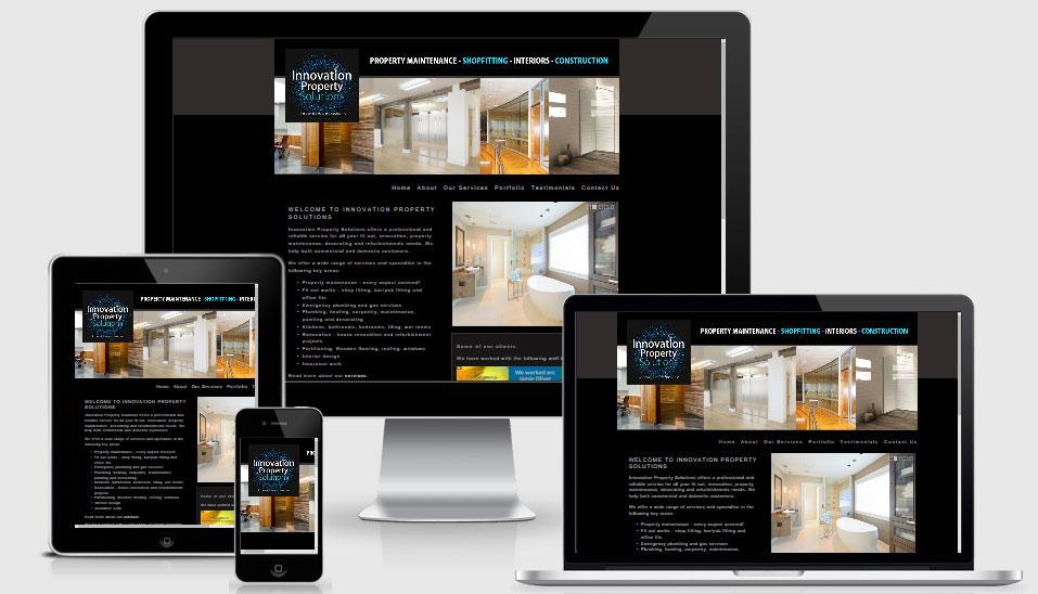 Website design for Innovation Property Solutions
