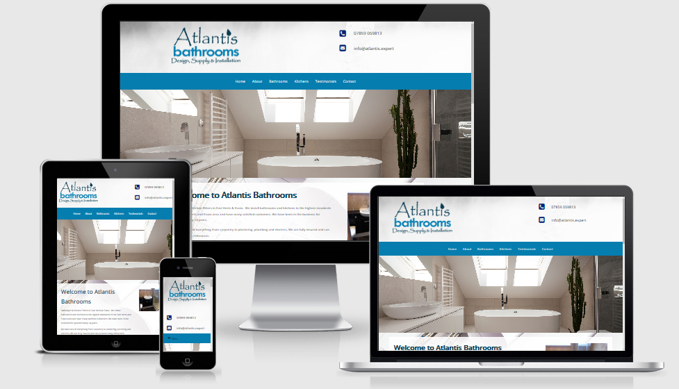 Atlantis Bathrooms website design