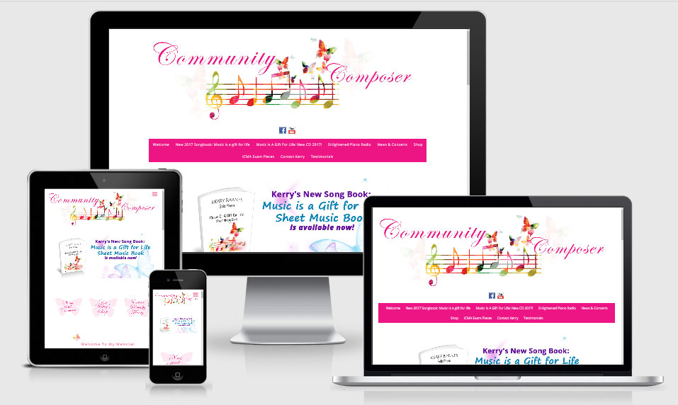 Website created for Kerry Barnes
