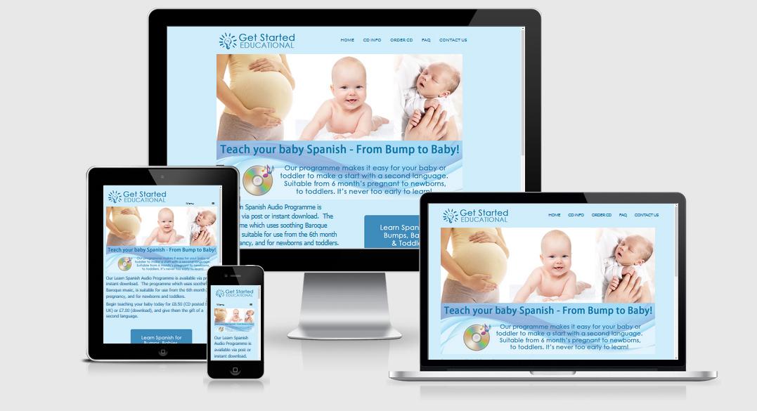 Get Started Educational website design