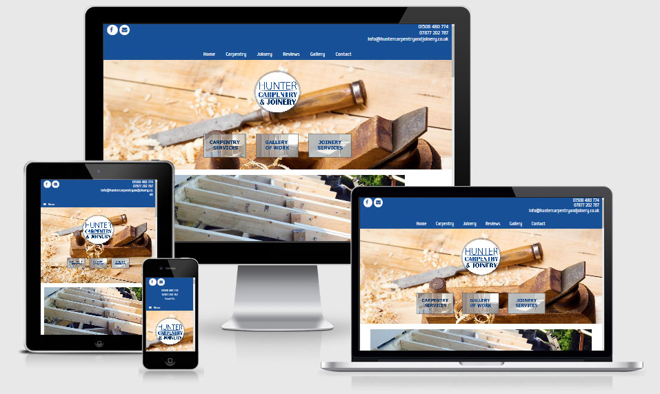 Website design for Hunter Carpentry and Joinery