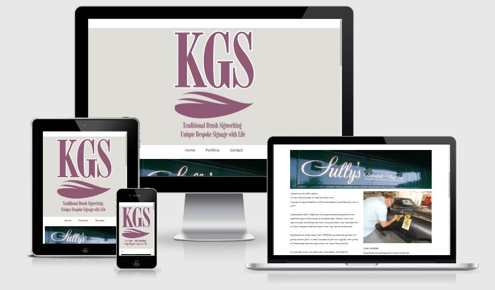 Website design for KGS Signwriting