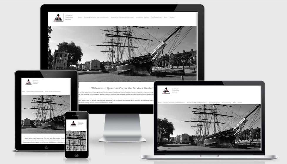 Quantum Group website design