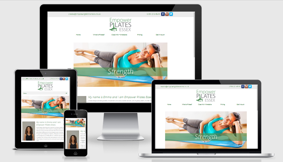 Pilates website for Emma Coleman