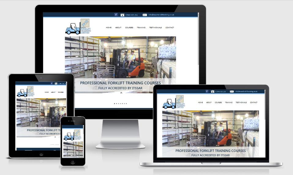 Forklift Training website design