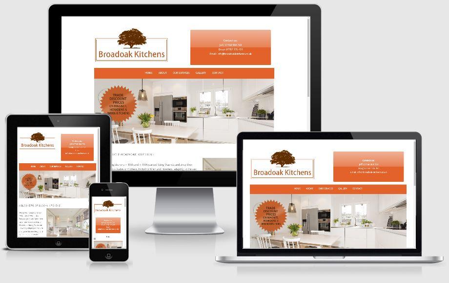 Broadoak Kitchens - website design